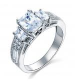 Ezüst gyémánt gyűrű-8