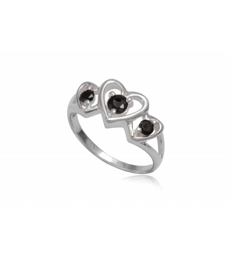 Ezüst gyűrű fekete cirkónia kristállyal-8