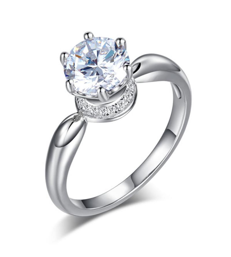 Ezüst gyűrű kristállyal-5