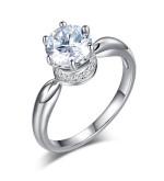 Ezüst gyűrű kristállyal-6