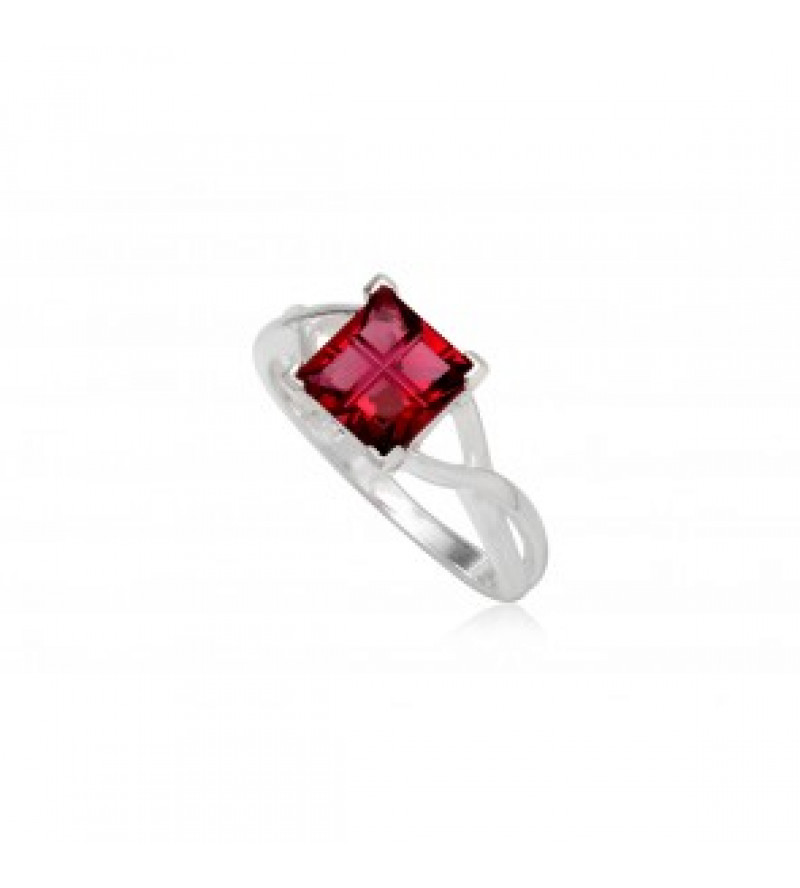 Ezüst gyűrű rózsaszín cirkónia kristállyal-8