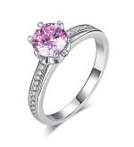Ezüst gyűrű rózsaszín kristállyal-5
