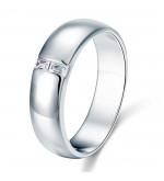 Ezüst gyűrű szintetikus gyémánt kövekkel