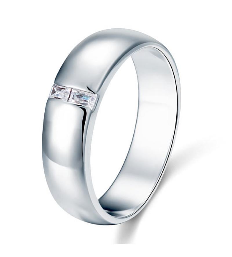 Ezüst gyűrű szintetikus gyémánt kövekkel-10