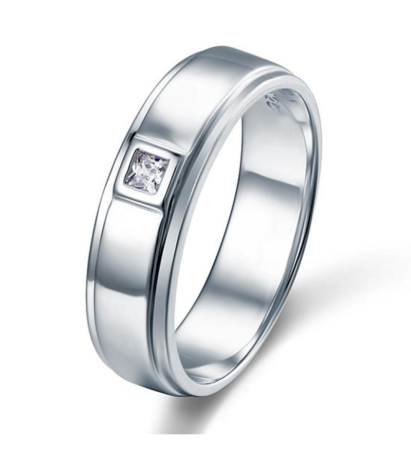 Ezüst gyűrű szintetikus gyémánt kővel-10