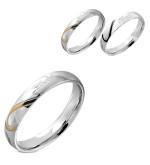 Ezüst színű - Love - feliratú nemesacél gyűrű ékszer-6,5
