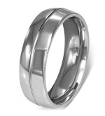 Ezüst színű nemesacél gyűrű ékszer