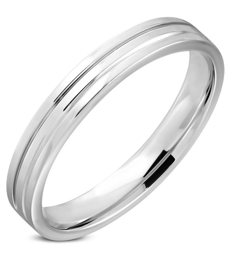 Ezüst színű nemesacél gyűrű ékszer-11