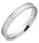 Ezüst színű nemesacél gyűrű ékszer-12