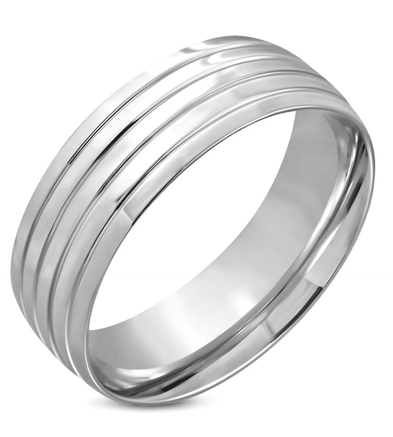 Ezüst színű nemesacél gyűrű ékszer-9