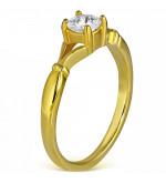 Arany színű cikória köves gyűrű ékszer-7