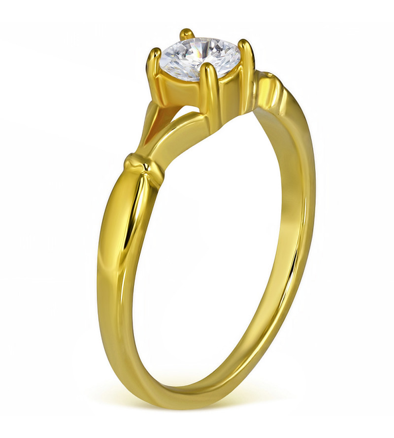 Arany színű cikória köves gyűrű ékszer-9