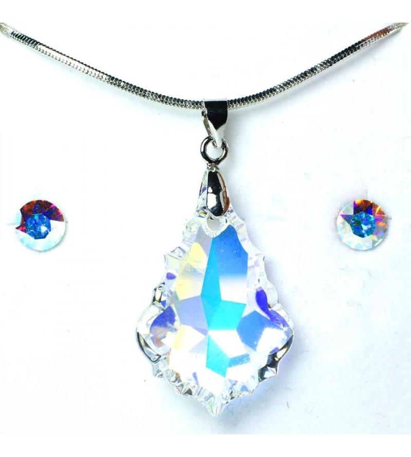 Swarovski® kristályos ékszerszett - Mariat 22 mm, Crystal AB + díszdoboz