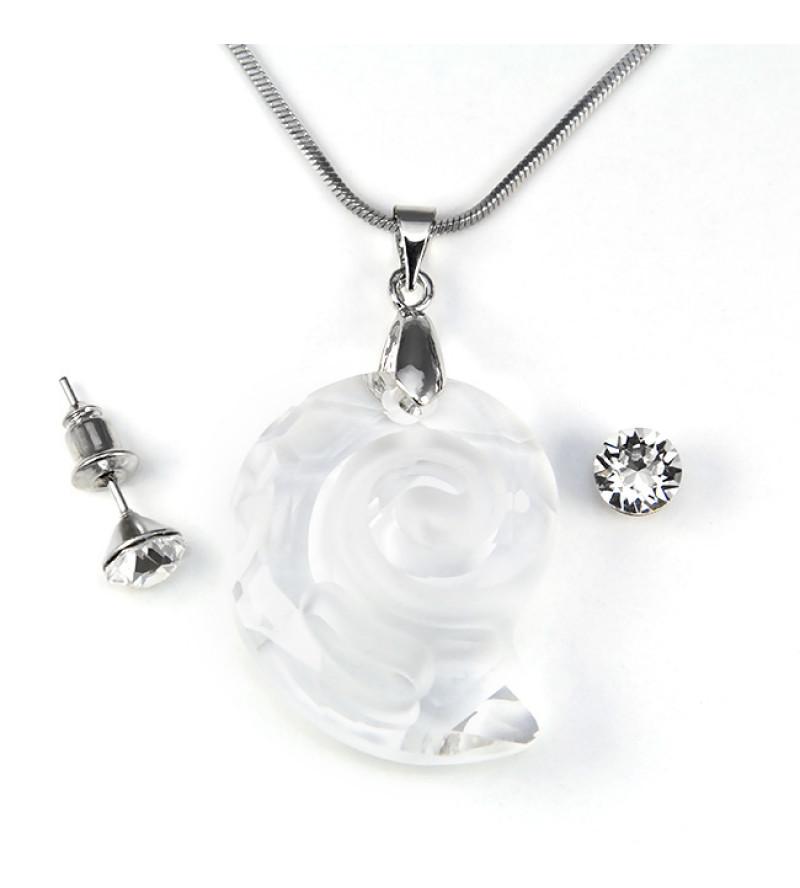 Swarovski kristályos ékszerszett - Csiga 28 mm,  Crystal + díszdoboz