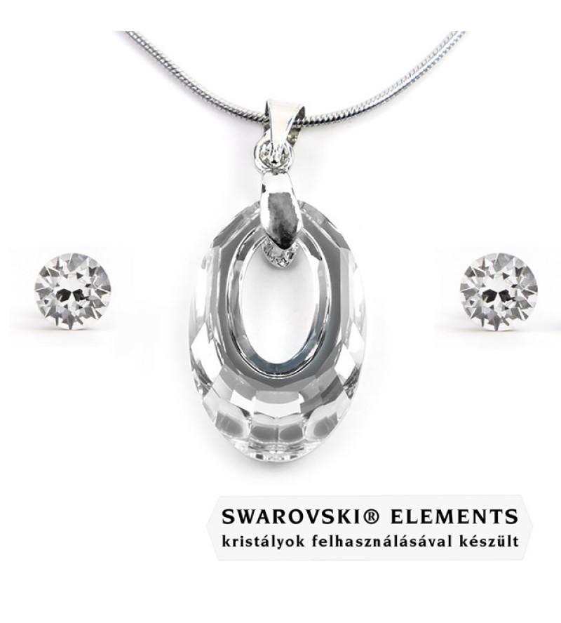 Swarovski kristályos ékszerszett - Helios 20 mm, Crystal + díszdoboz