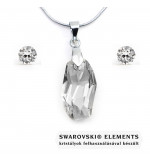 Swarovski kristályos ezüst ékszerszett - Meteor 18 mm, Crystal + díszdoboz
