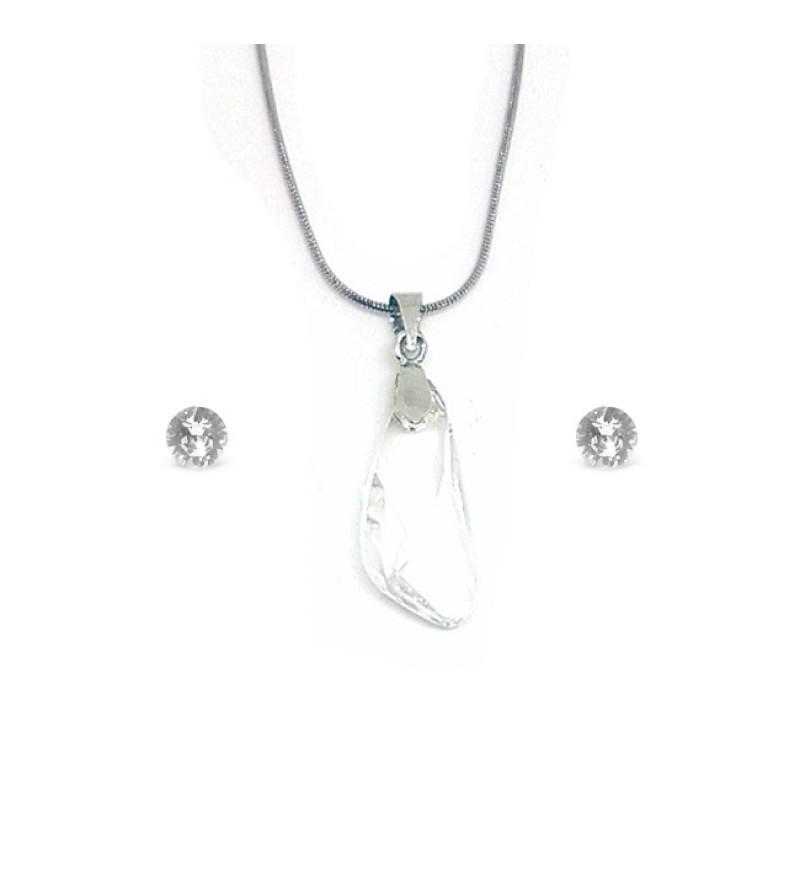 Swarovski kristályos szett - Szárny 23 mm, Crystal + díszdoboz